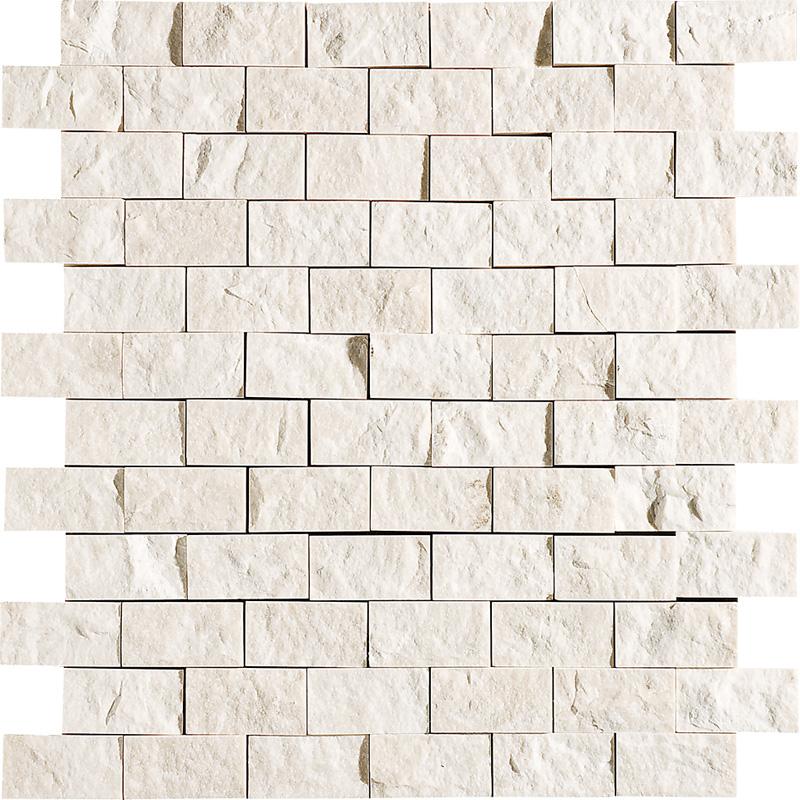 Desert Cream Rock Face 1st Quality 32x32 1x2 Marble Mosaics