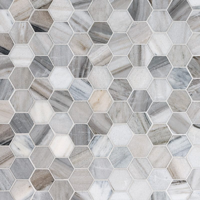 Skyline Polished 1st Quality 26,5x31 Hexagon Marble Mosaics