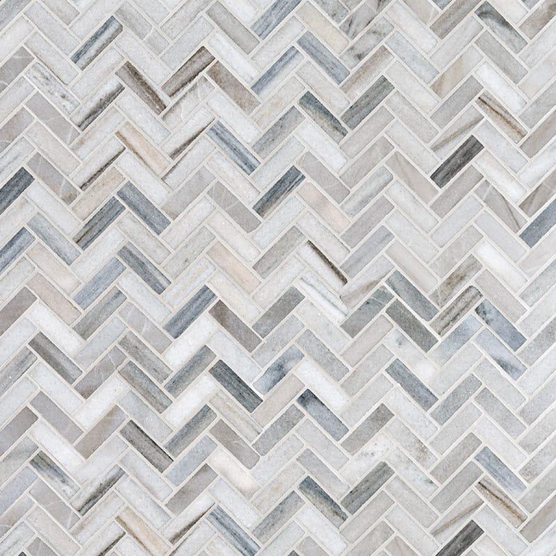 Skyline Polished 1st Quality 30,5x33,5 Herringbone Marble Mosaics