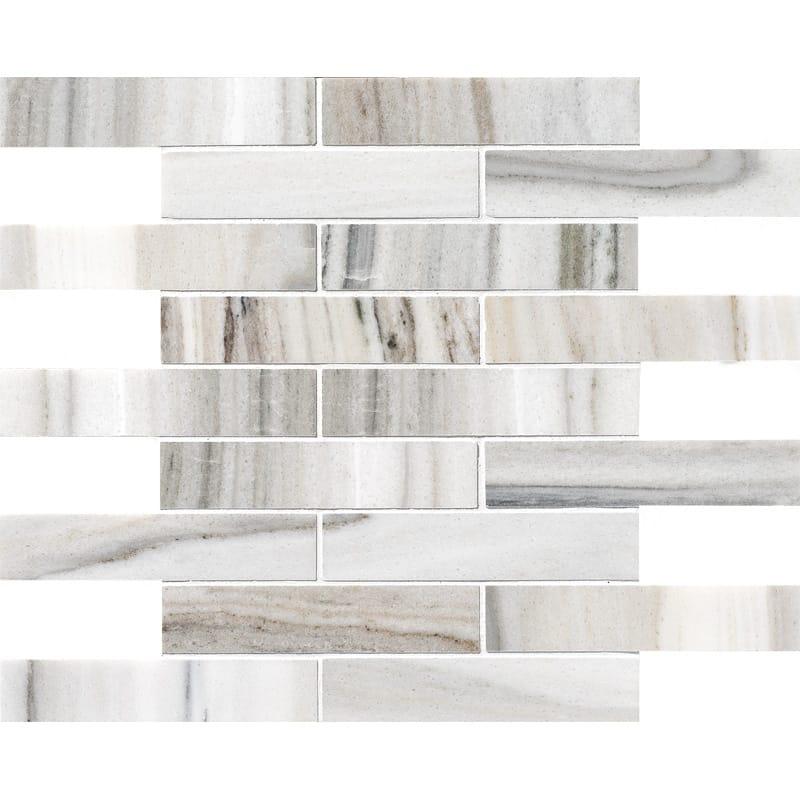 Skyline Honed 1st Quality 30,5×30,5 1 1/4×6 Marble Mosaics